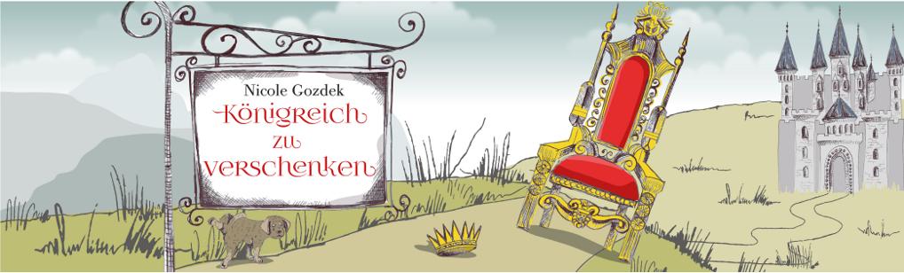"""Thron, Krone, Schloss und Schild """"Königreich zu verschenken"""""""