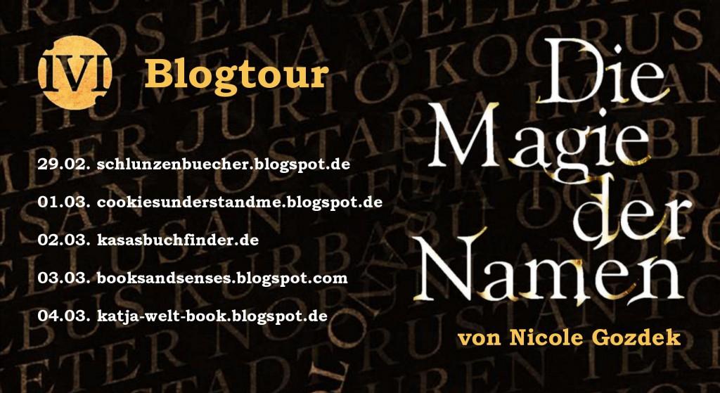 """Banner zur Blogtour zu """"Die Magie der Namen"""""""