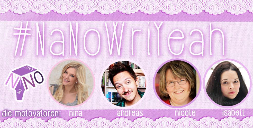 die 4 Autoren des NaNoWriYeah Teams