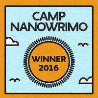 Gewinner-Logo vom Camp NaNoWriMo 2016