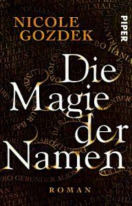 """Taschenbuch-Cover von """"Die Magie der Namen"""" (Band 1)"""