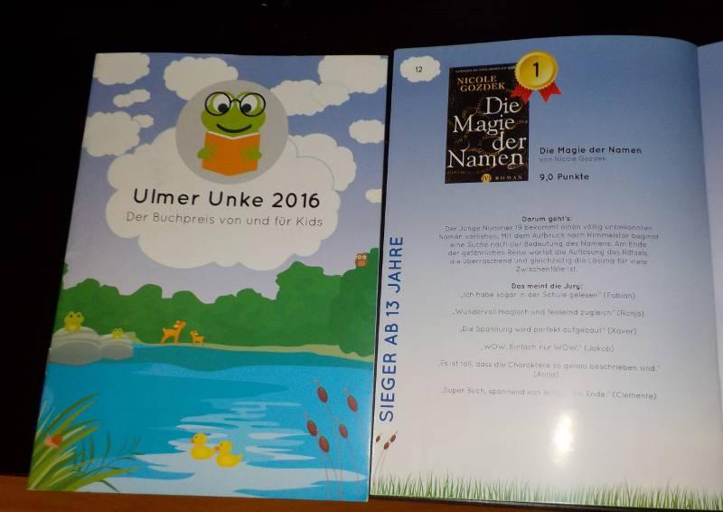 zwei Prospekte zur Ulmer Unke 2016, eins mit Sieger-Vorstellung
