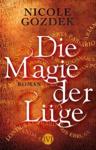 """Cover zum Roman """"Die Magie der Lüge"""" mit verschlungenen Namen"""