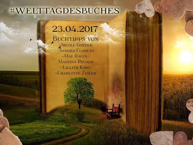 riesiges Buch in einer Landschaft mit Baum und Straße
