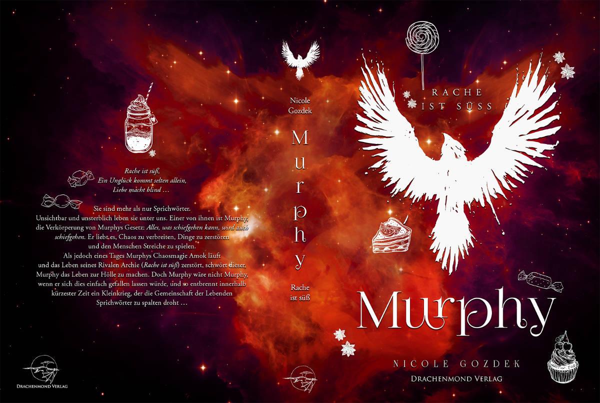 """Buchumschlag zum Fantasyroman """" Murphy - Rache ist süß"""""""