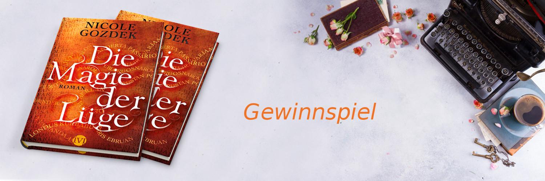 """Gewinnspiel-Banner zu """"Die Magie der Lüge"""""""