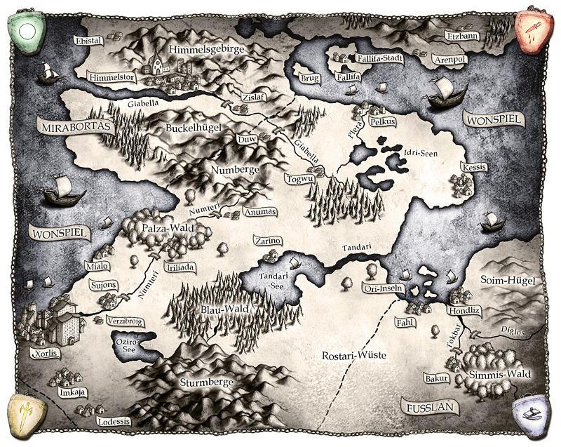 """Karte zu """"Die Magie der Lüge"""", gestaltet von Timo Kümmel"""