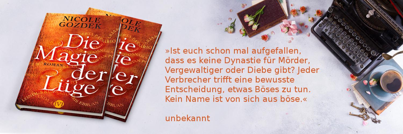 """Zitat aus dem Roman """"Die Magie der Lüge"""", Bücher und Schreibbedarf"""