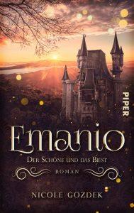 """Buchcover mit Schloss im Wald zu """"Emanio - Der Schöne und das Biest"""""""